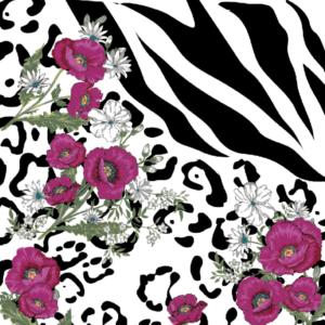Miami floral textile design