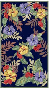 beach towel Miami textile design illustration
