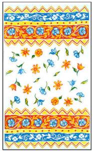Miami kitchen towel textile design