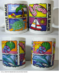 Miami Mugs product graphic design