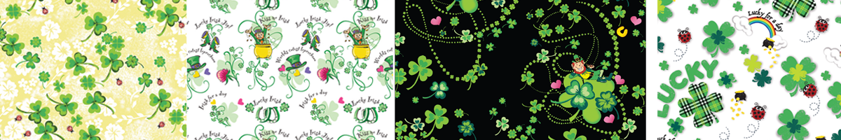 Miami St. Patrick's Day Whimsical textile print design illustration