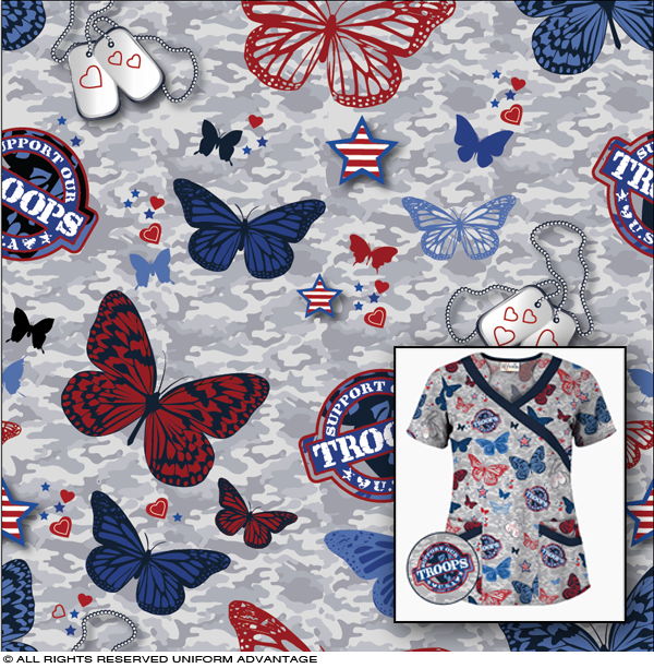 miami textile print design medical scrubs