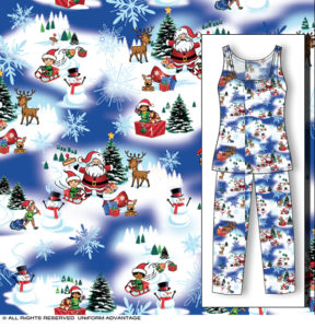 Miami Christmas pajamas textile design illustration